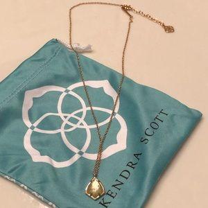 Kendra Scott Rose Quartz Necklace in Rose Gold